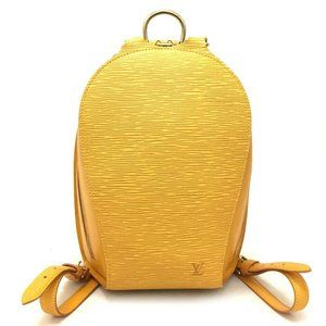 Auth Louis Vuitton Epi Mabillon Leather Backpack
